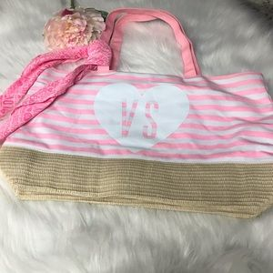 Victoria Secret Tote Bag with Scarf